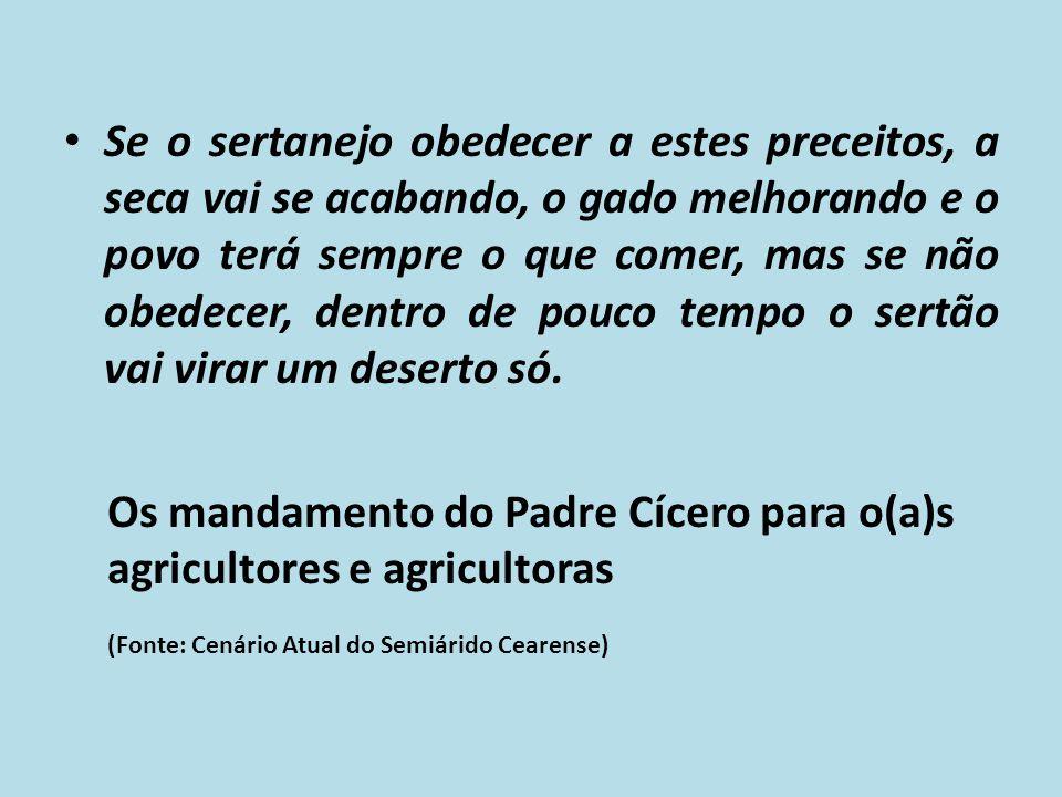 Os mandamento do Padre Cícero para o(a)s agricultores e agricultoras