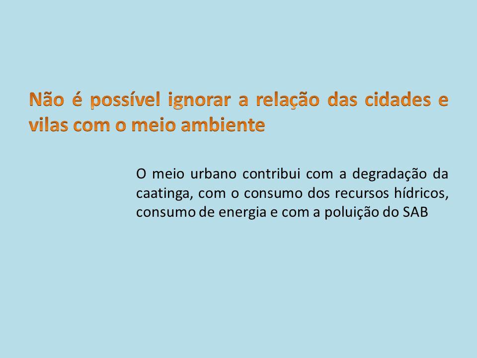Não é possível ignorar a relação das cidades e vilas com o meio ambiente