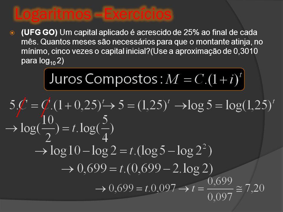 Logaritmos –Exercícios