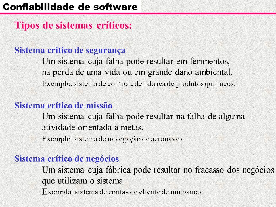 Tipos de sistemas críticos: