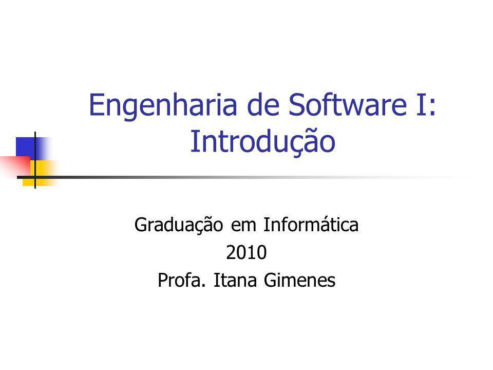 Engenharia de Software I: Introdução