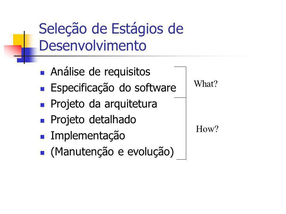 Seleção de Estágios de Desenvolvimento