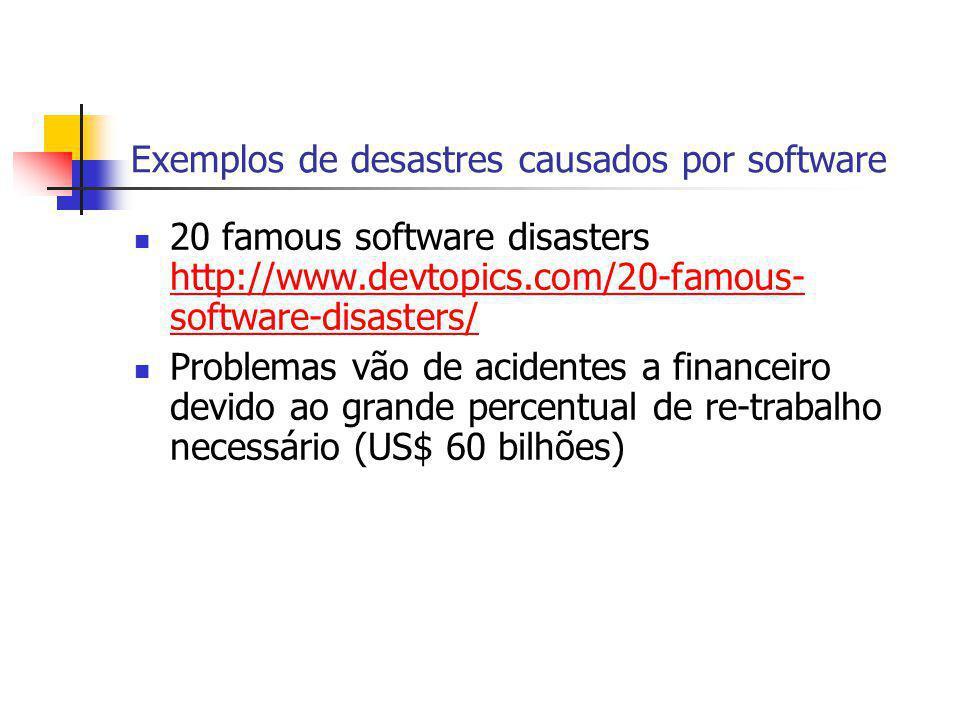 Exemplos de desastres causados por software
