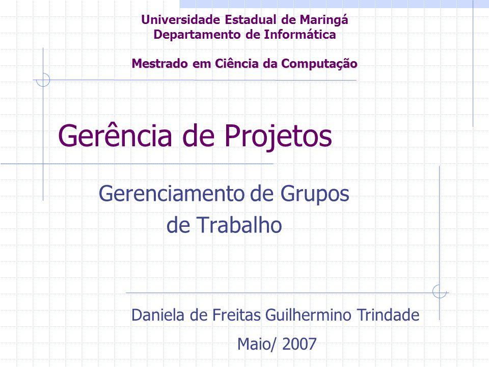 Gerenciamento de Grupos de Trabalho