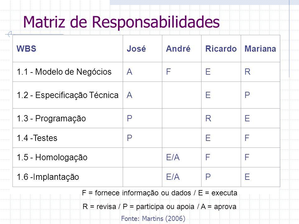 Matriz de Responsabilidades