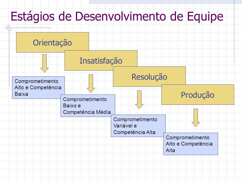 Estágios de Desenvolvimento de Equipe