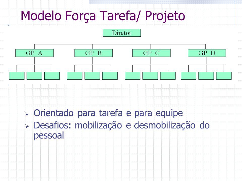 Modelo Força Tarefa/ Projeto