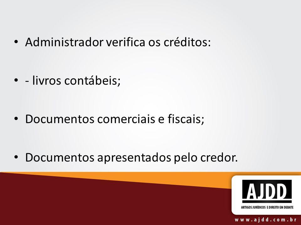 Administrador verifica os créditos: