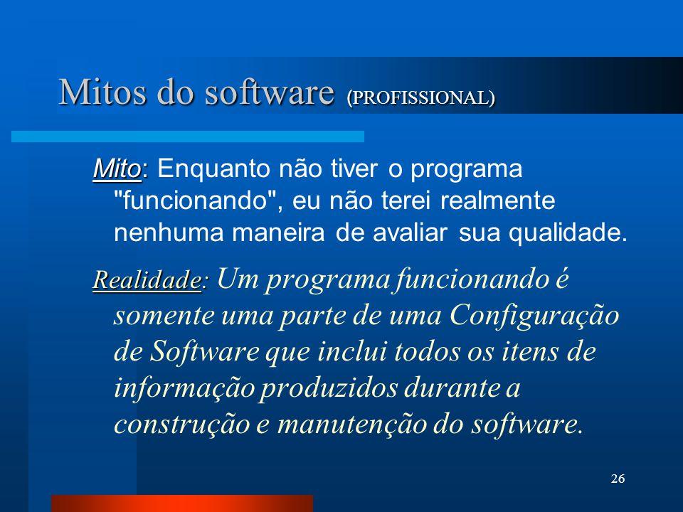 Mitos do software (PROFISSIONAL)