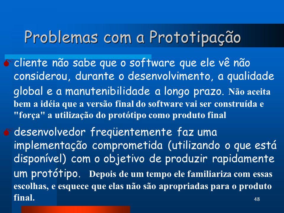 Problemas com a Prototipação
