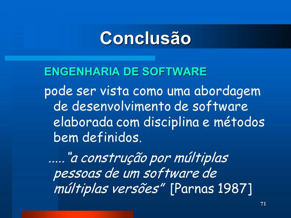 Conclusão ENGENHARIA DE SOFTWARE.