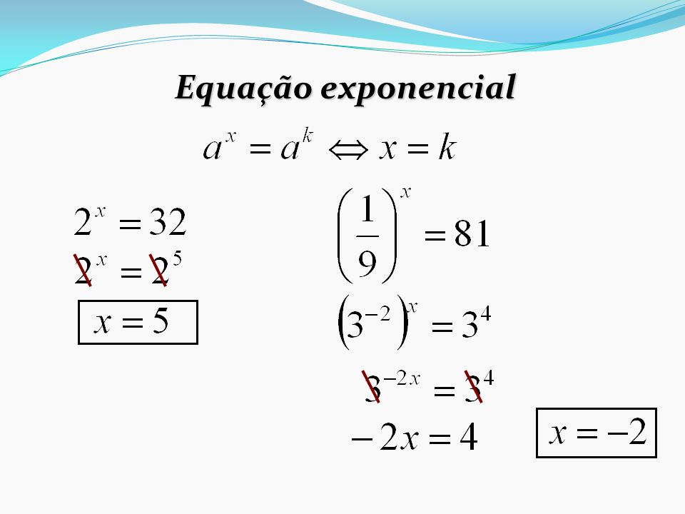 Equação exponencial