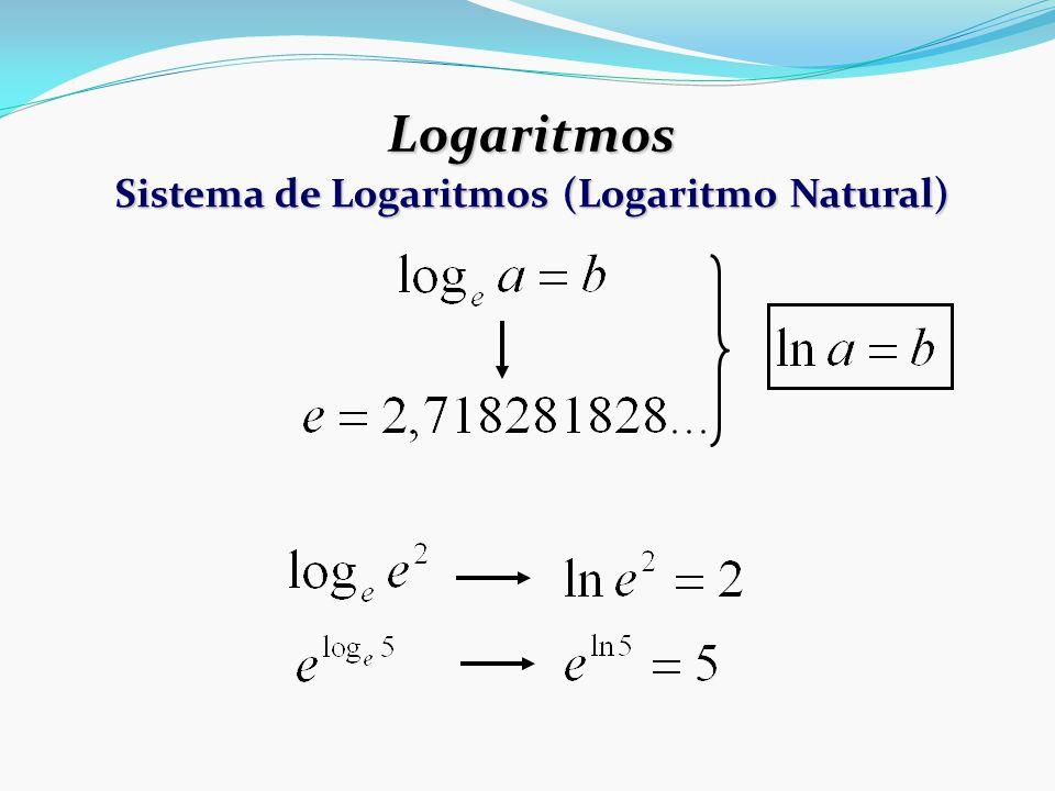 Sistema de Logaritmos (Logaritmo Natural)