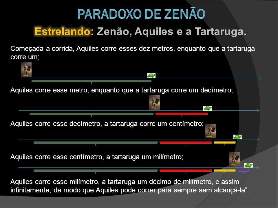 Paradoxo de zenão Estrelando: Zenão, Aquiles e a Tartaruga.