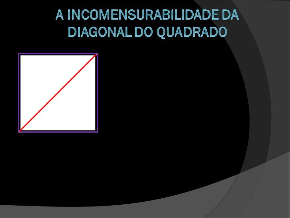 A incomensurabilidade da diagonal do quadrado
