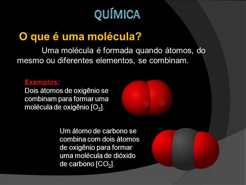 Química O que é uma molécula