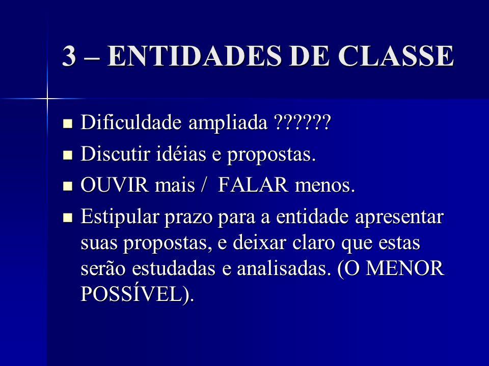 3 – ENTIDADES DE CLASSE Dificuldade ampliada