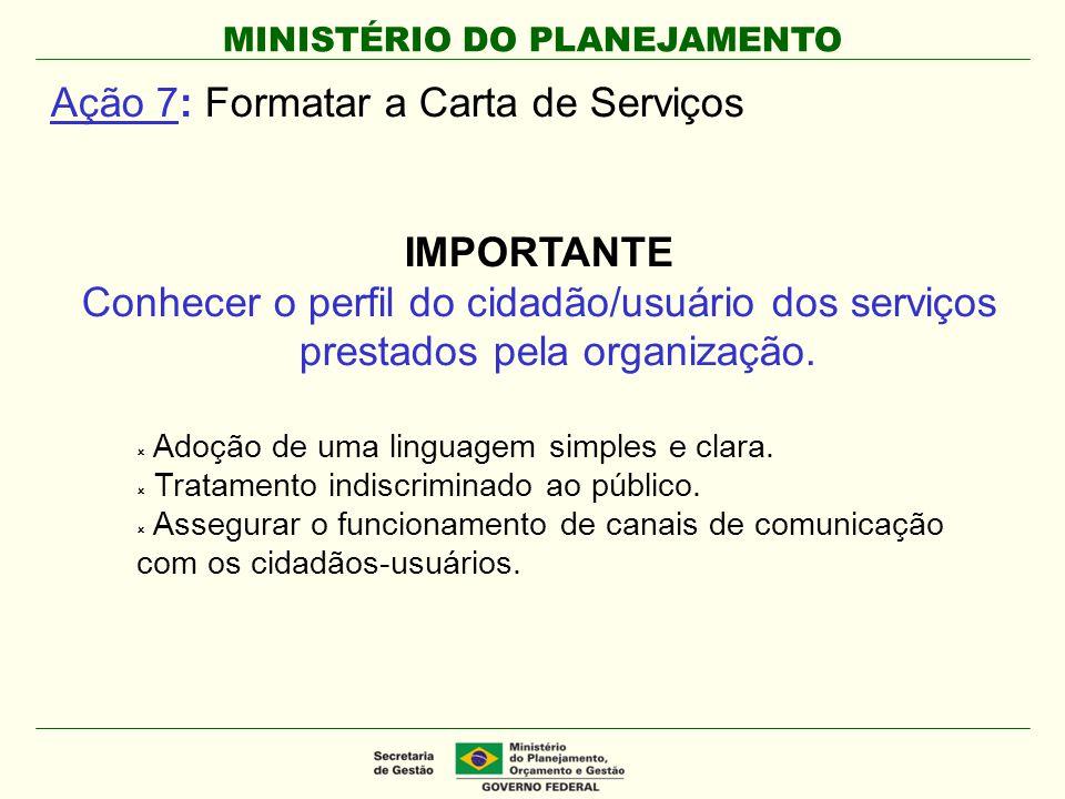 Ação 7: Formatar a Carta de Serviços