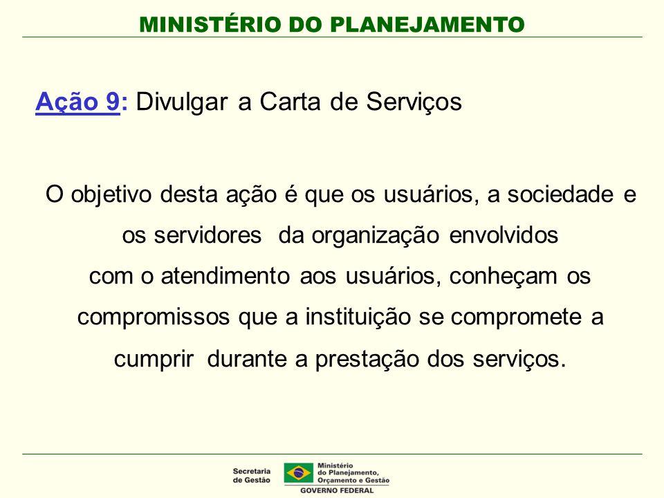 Ação 9: Divulgar a Carta de Serviços