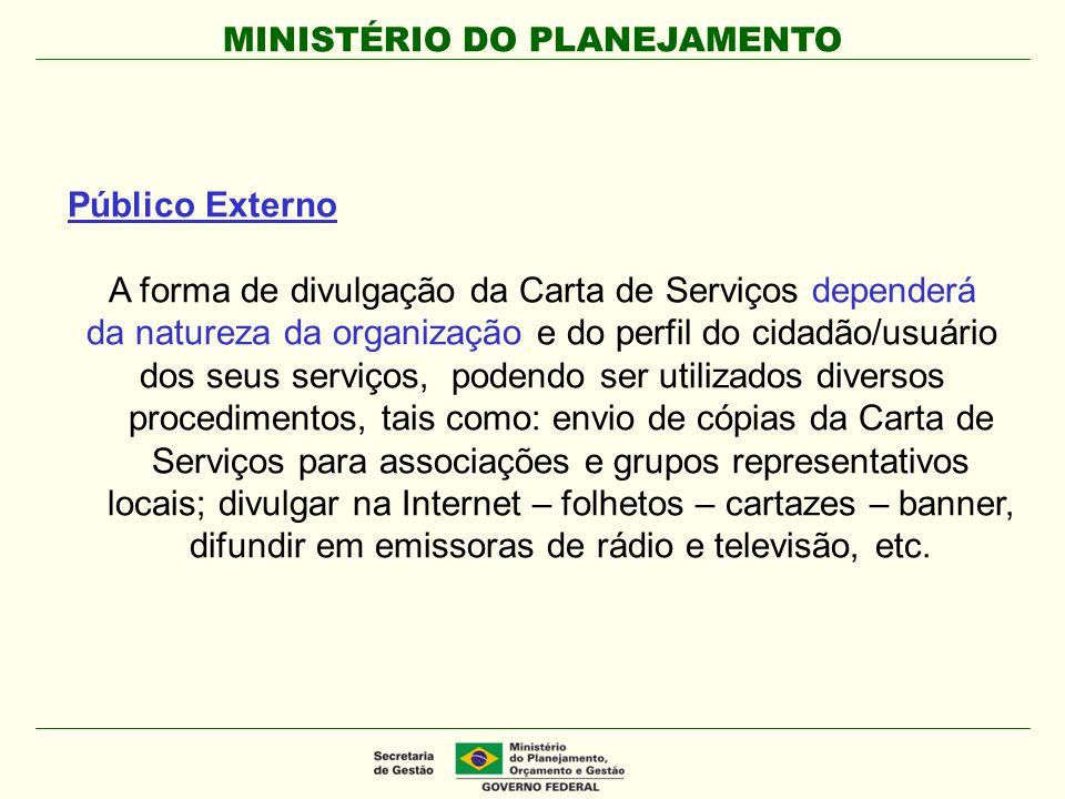A forma de divulgação da Carta de Serviços dependerá