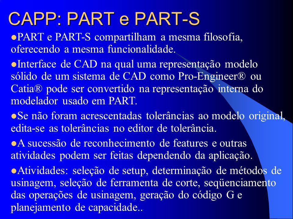 CAPP: PART e PART-S PART e PART-S compartilham a mesma filosofia, oferecendo a mesma funcionalidade.