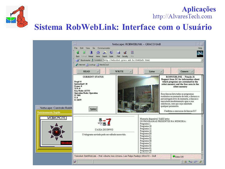 Sistema RobWebLink: Interface com o Usuário