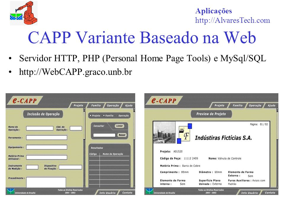 CAPP Variante Baseado na Web