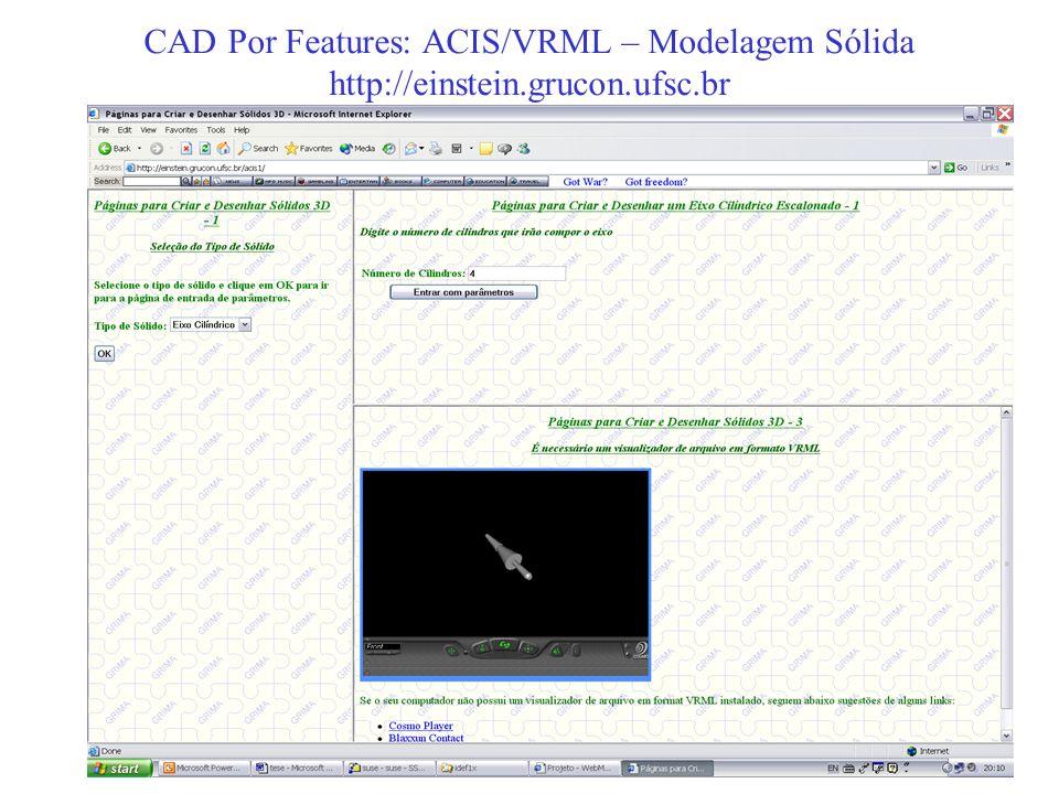 CAD Por Features: ACIS/VRML – Modelagem Sólida