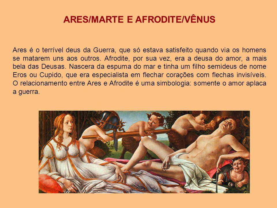 ARES/MARTE E AFRODITE/VÊNUS