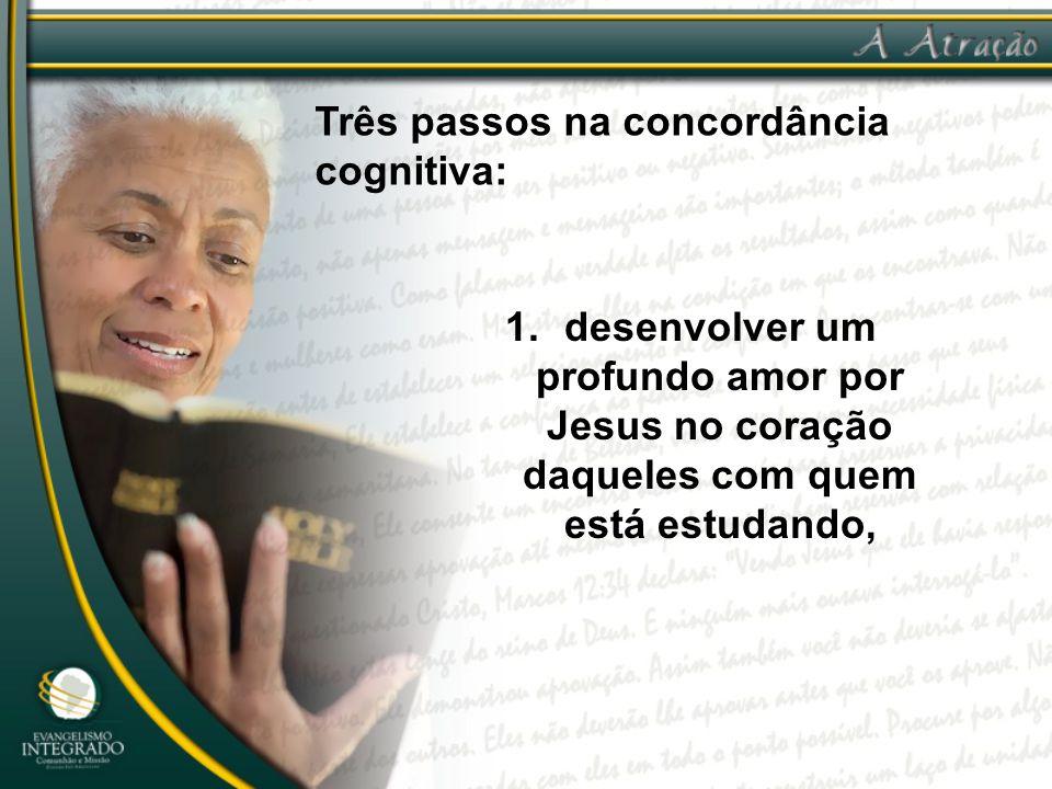 Três passos na concordância cognitiva: