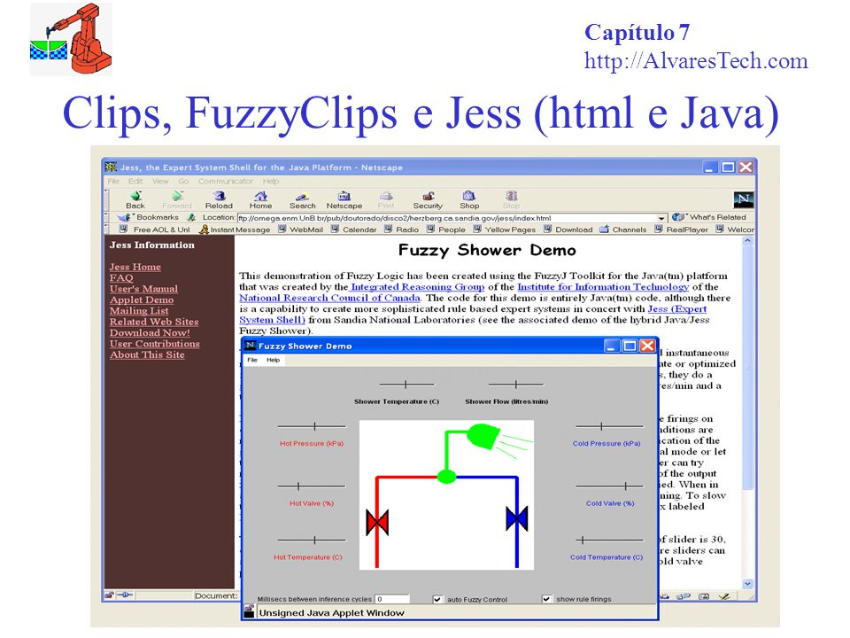 Clips, FuzzyClips e Jess (html e Java)