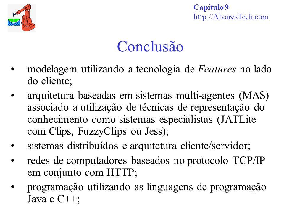 Conclusão Capítulo 9. http://AlvaresTech.com. modelagem utilizando a tecnologia de Features no lado do cliente;