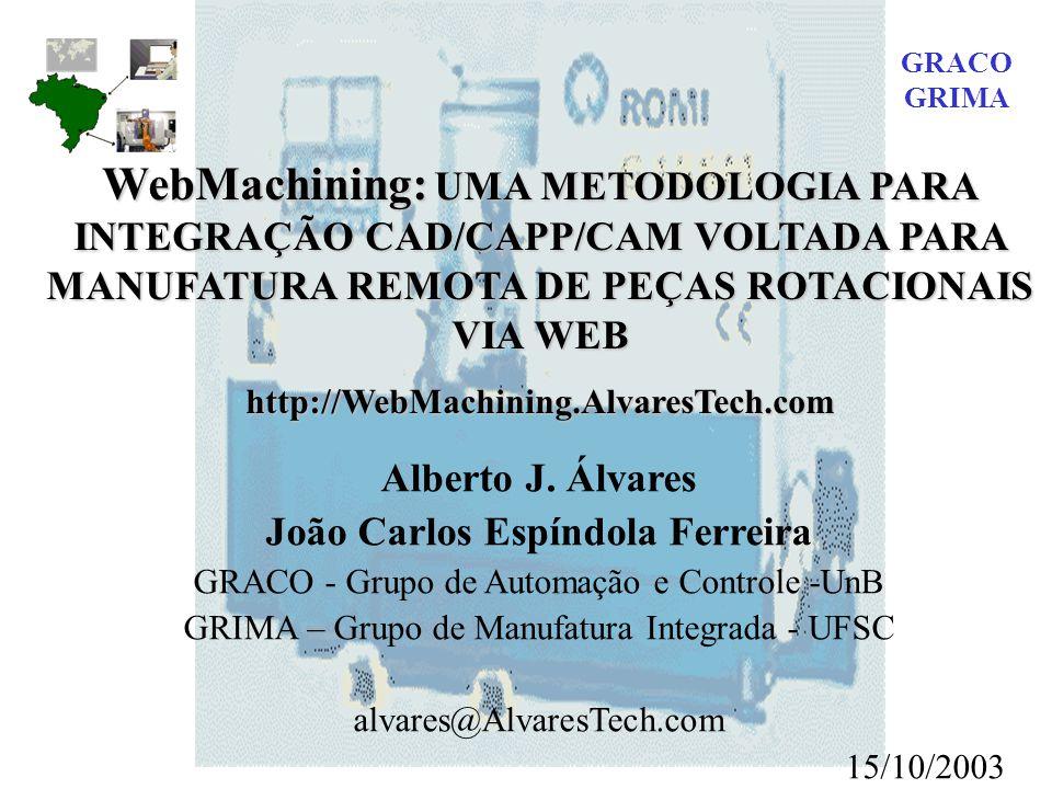 GRACO GRIMA. WebMachining: UMA METODOLOGIA PARA INTEGRAÇÃO CAD/CAPP/CAM VOLTADA PARA MANUFATURA REMOTA DE PEÇAS ROTACIONAIS VIA WEB.