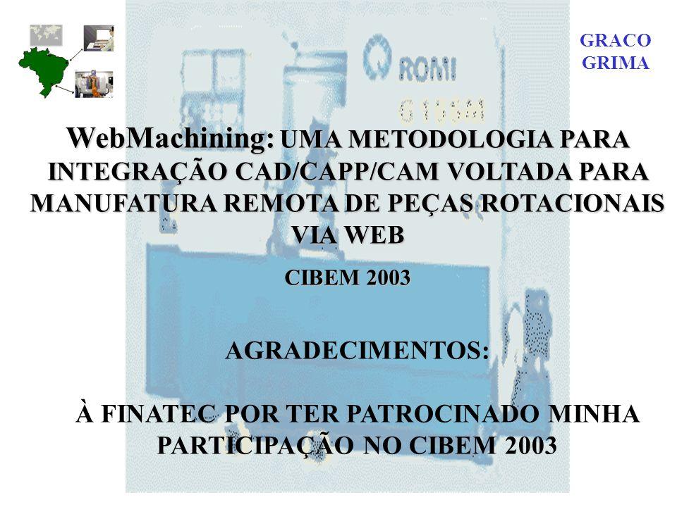 À FINATEC POR TER PATROCINADO MINHA PARTICIPAÇÃO NO CIBEM 2003