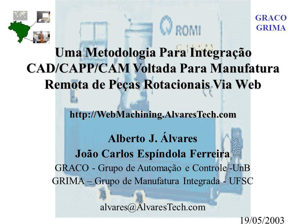 GRACO GRIMA. Uma Metodologia Para Integração CAD/CAPP/CAM Voltada Para Manufatura Remota de Peças Rotacionais Via Web.