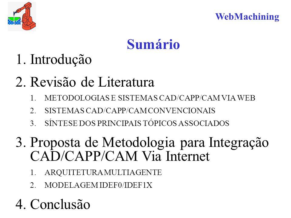 Proposta de Metodologia para Integração CAD/CAPP/CAM Via Internet