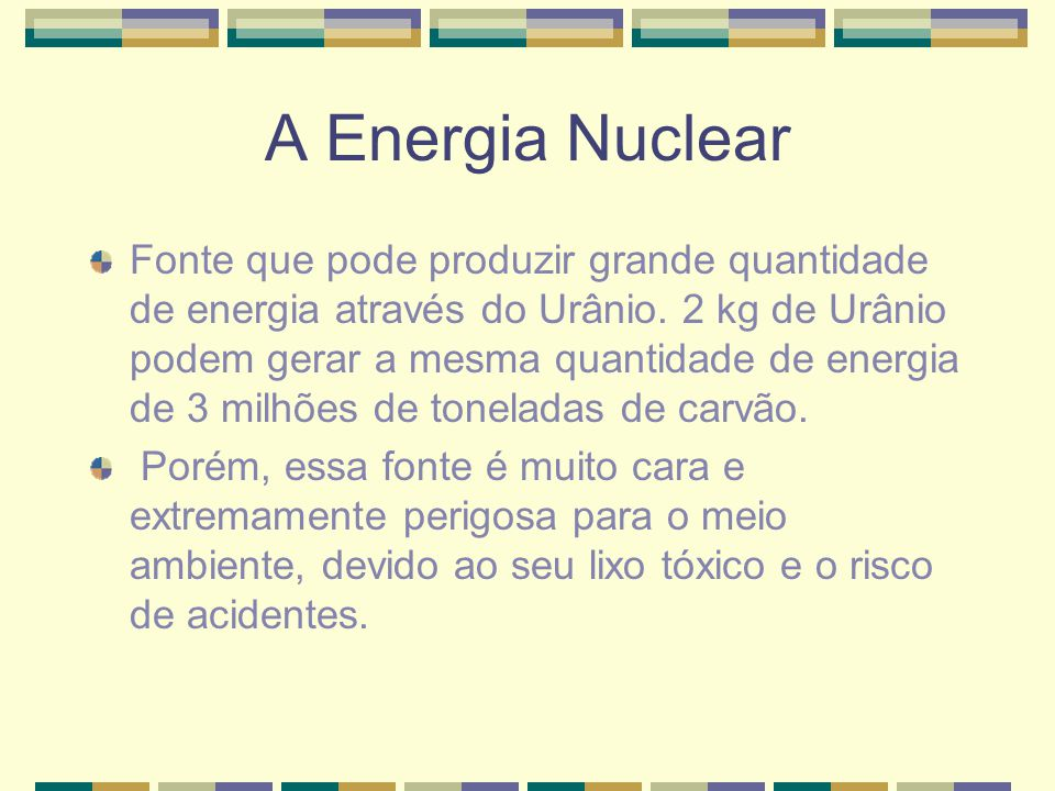 A Energia Nuclear