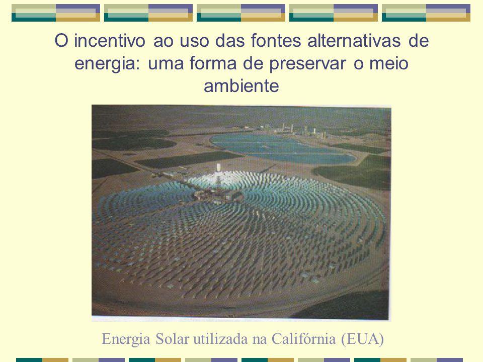 O incentivo ao uso das fontes alternativas de energia: uma forma de preservar o meio ambiente