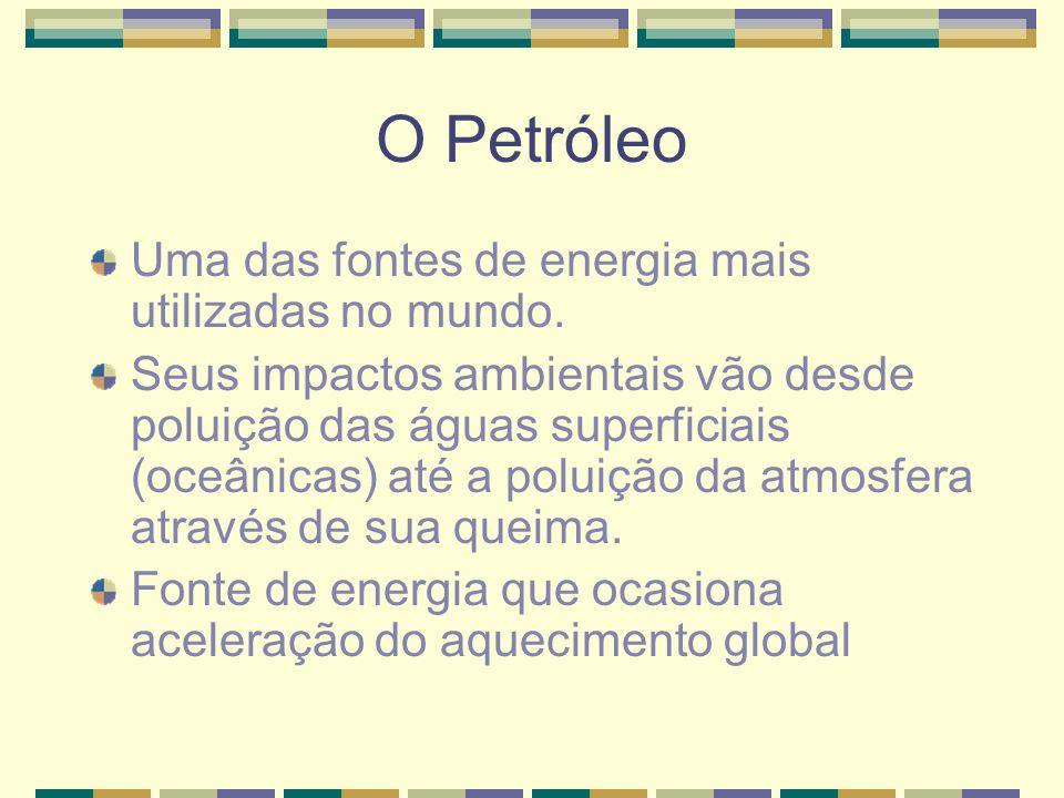 O Petróleo Uma das fontes de energia mais utilizadas no mundo.