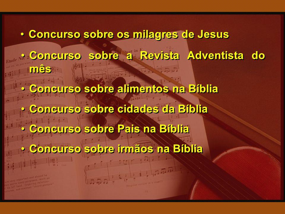 Concurso sobre os milagres de Jesus