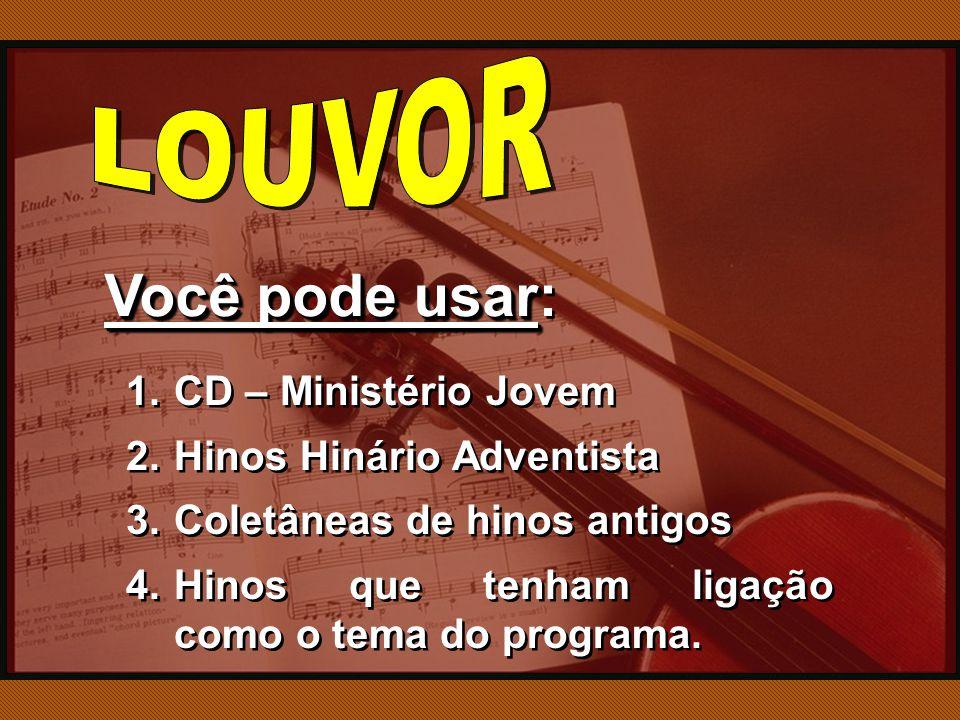 Você pode usar: LOUVOR CD – Ministério Jovem Hinos Hinário Adventista