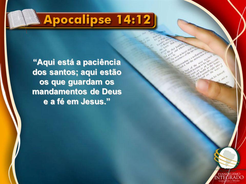 Aqui está a paciência dos santos; aqui estão os que guardam os mandamentos de Deus e a fé em Jesus.