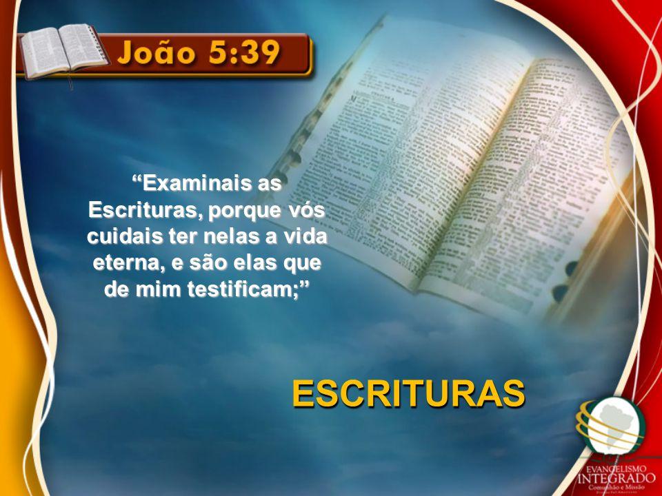 Examinais as Escrituras, porque vós cuidais ter nelas a vida eterna, e são elas que de mim testificam;