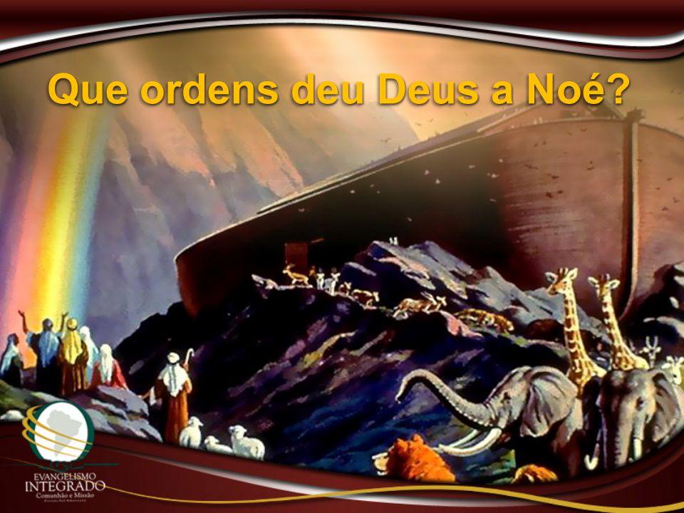 Que ordens deu Deus a Noé
