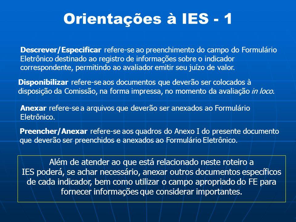 Orientações à IES - 1
