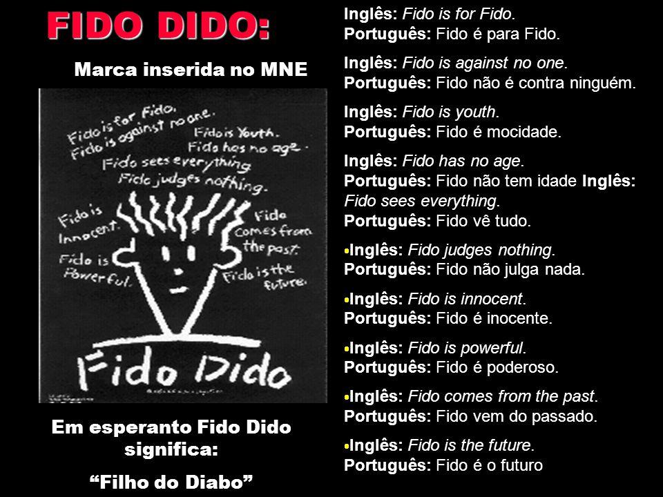 Em esperanto Fido Dido significa: