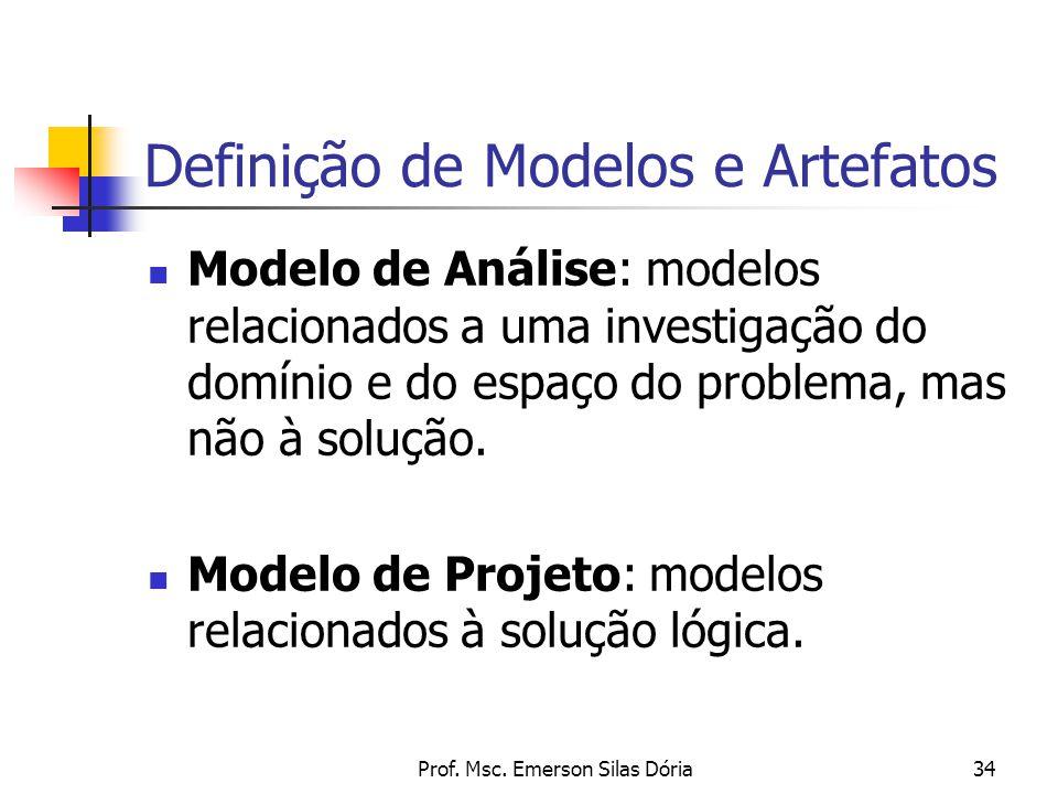 Definição de Modelos e Artefatos