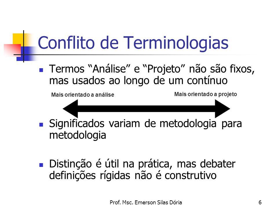 Conflito de Terminologias