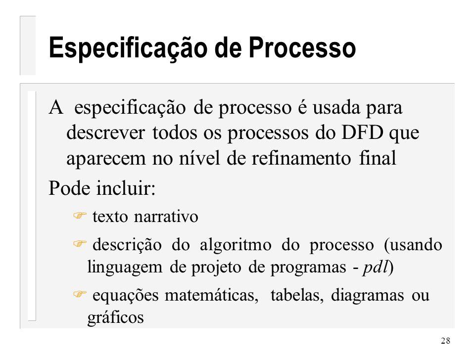 Especificação de Processo