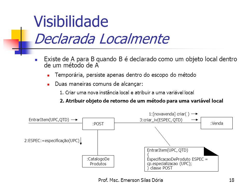 Visibilidade Declarada Localmente